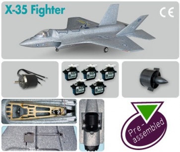 AIRBORNE MODELS X-35 Fighter (Pre-assembled Combo)