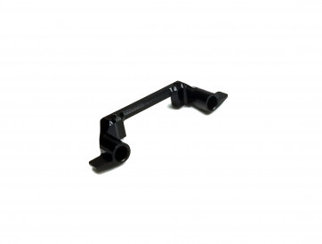 MIRACLE RC ADJUSTABLE SERVO MOUNT BLACK