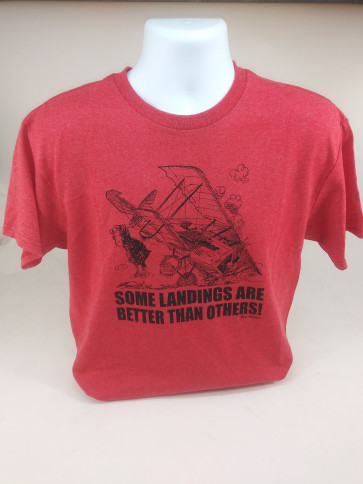 Graves RC Hobbies Some Landings T-Shirt - Red