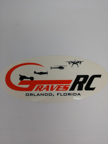 GRAVES LOGO STICKER ORANGE