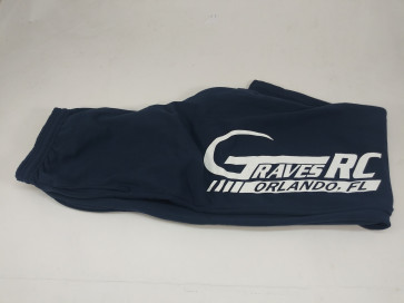 GRAVES RC MEN'S SWEATPANTS STRAIGHT BOTTOM NAVY - LARGE