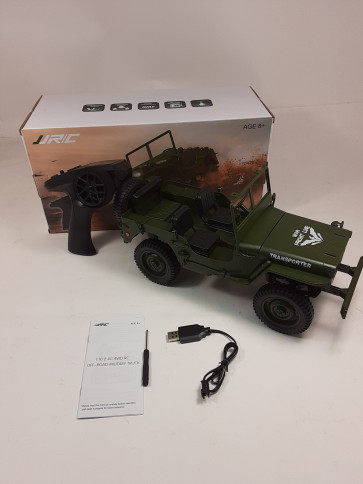 JJ R/C 1:10 2.4G 4WD RC Off-Road Military Truck - Green