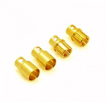 GRAVES RC HOBBIES  8.0MM GOLD PLATED CONNECTOR