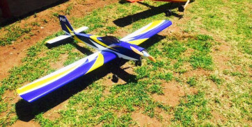 "PILOT RC 88"" Sport Trainer - Blue, Yellow, White"