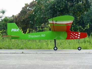 """PILOT RC Sport Trainer 88"""" - Green, White, Red"""