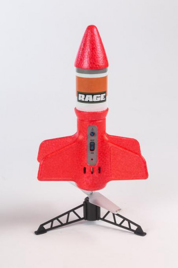 Rage R/C - Spinner Missile X - Red Electric Free-Flight Rocket