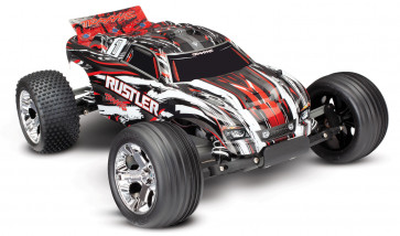 TRAXXAS RUSTLER: 1/10 SCALE STADIUM TRUCK - RED