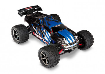 Traxxas 1/16 E-Revo VXL Brushless 4WD RTR RC Monster Truck w/TSM, ID Battery & Quick Charger - Blue X
