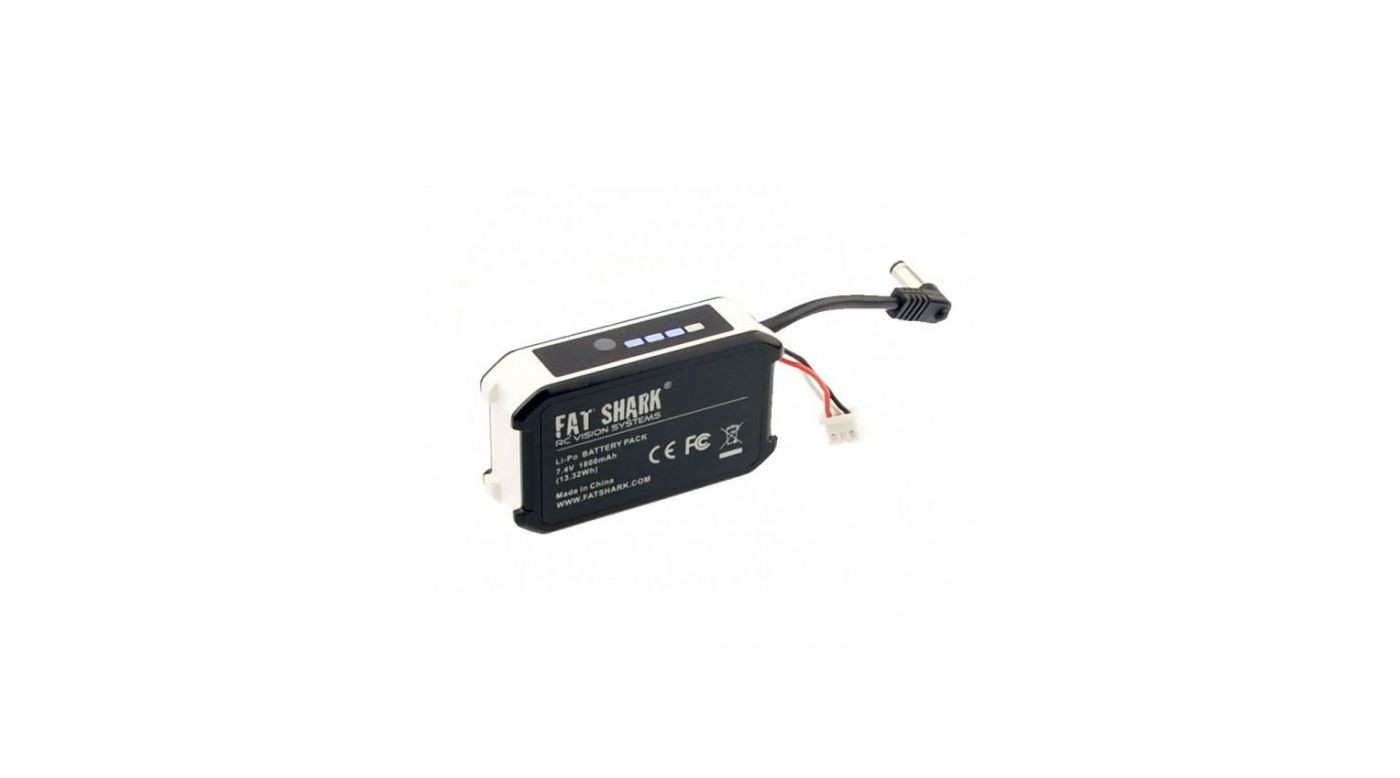 fsv1803 fat shark 7 4v 1800mah lipo battery pack with led