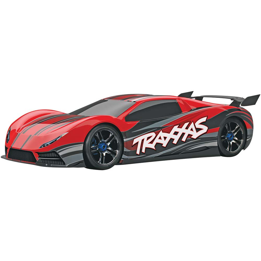 tra64077 red traxxas 1 7 xo 1 awd supercar tqi red w. Black Bedroom Furniture Sets. Home Design Ideas