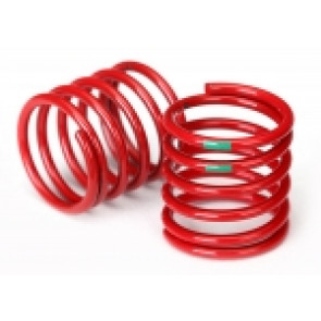 TRAXXAS  Spring, shock (red) (4.075 rate, green stripe) (2)