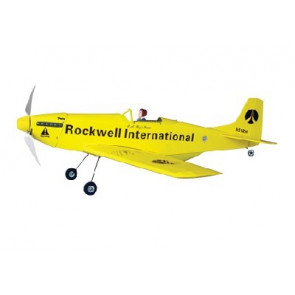 AIRBORNE MODELS P-51 EP YELLOW ARF