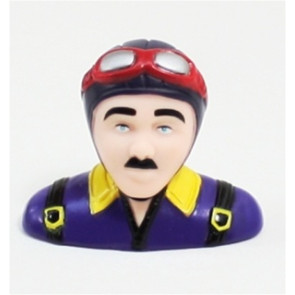 Airborne Models PILOT STATUE 50mm tall, blue/purple