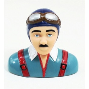 AIRBORNE MODELS PILOT STATUE 75mm tall, blue/grey
