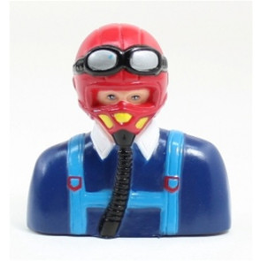 AIRBORNE MODELS PILOT WARBIRD RED/BLUE 85MM