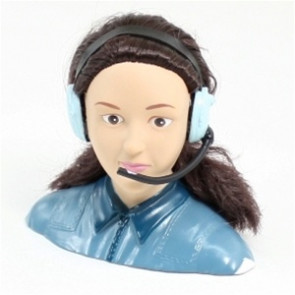 AIRBORNE MODELS 1/4 Scale Female Pilot, BLUE