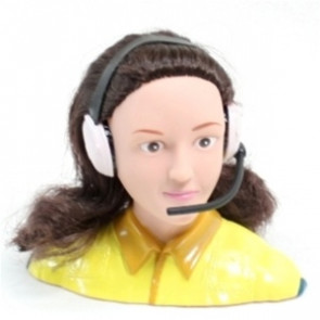 AIRBORNE MODELS 1/4 Scale Female Pilot, YELLOW