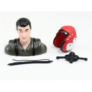 AIRBORNE MODELS PILOT STATUE GREEN/RED 57MM
