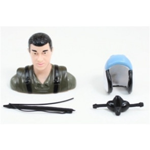 AIRBORNE MODELS PILOT STATUE GREEN/BLUE 57MM