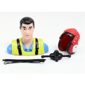 AIRBORNE MODELS PILOT STATUE BLUE/RED 57MM