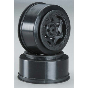 AKA Racing 1/10 Cyclone SC Wheel SC-10 Rear Black (2)