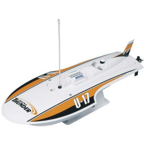AquaCraft Mini Thunder Round Nose Hydroplane Orange, CH A4