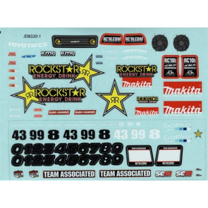 Associated Decal Sheet Rockstar-Makita SC18