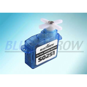 BLUE ARROW S0251 MICRO SERVO W/WHITE MICRO JST CONN.