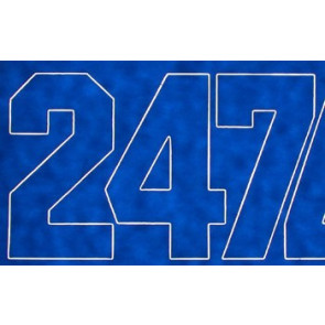 Coverite Numbers Blue 2""