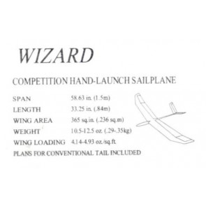 DJA Wizard Hand Launch Sailplane