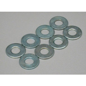 Dubro Flat Washers 4mm (8)
