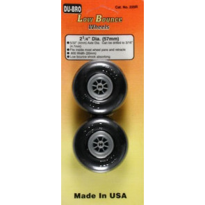 """Dubro Low Bounce Smooth Wheels 2-1/4"""" (2)"""