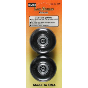 """Dubro Low Bounce Smooth Wheels 2-1/2"""" (2)"""