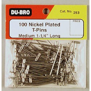 """Dubro T-Pins 1-1/4"""" (100)"""