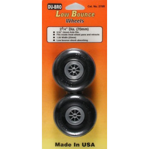 """Dubro Low Bounce Smooth Wheels 2-3/4"""" (2)"""