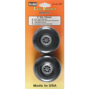 """Dubro Low Bounce Smooth Wheels 3"""" (2)"""