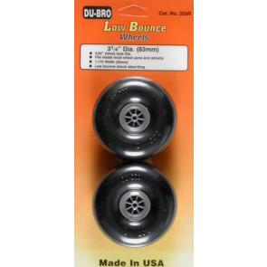 """Dubro Low Bounce Smooth Wheels 3-1/4"""" (2)"""