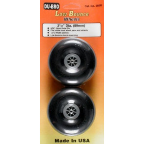 """Dubro Low Bounce Smooth Wheels 3-1/2"""" (2)"""