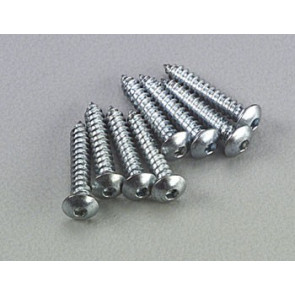 Dubro Button Head Sheet Metal Screws 4x1/2 (8)