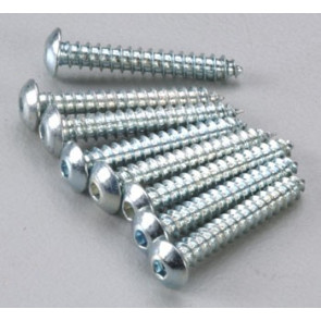 Dubro Button Head Sheet Metal Screws 4x3/4 (8)
