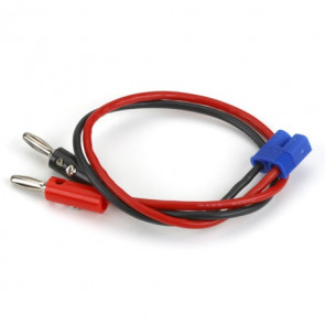 "E-Flite EC3 Device Charge Lead with 12"" Wire & Jacks, 16 AWG"