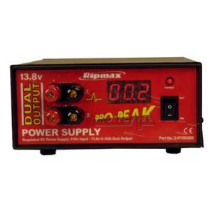 RIPMAX PRO-PEAK 20 AMP DUAL OUTPUT DIGITAL POWER SUPPLY
