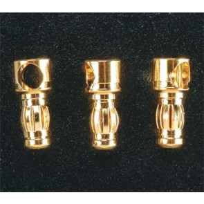 Great Planes Gold Plate Bullet Connector Male 3.5mm (3)