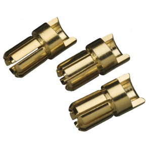 Great Planes Gold Plate Bullet Connector Male 6mm (3)