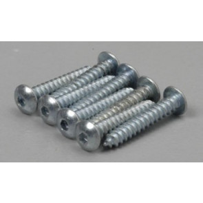 "Great Planes Button Head Sheet Metal Screws 2x1/2"" (8)"