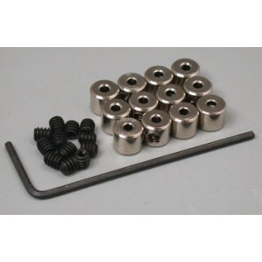 """Great Planes Plated Wheel Collars 1/16"""" (12)"""