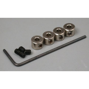 """Great Planes Plated Wheel Collars 3/32"""" (4)"""