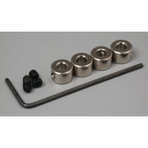 """Great Planes Plated Wheel Collars 1/8"""" (4)"""