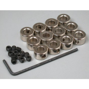 """Great Planes Plated Wheel Collars 3/16"""" (12)"""