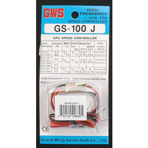 GWS SPEED CONTROL W/JR PLUG (100E)